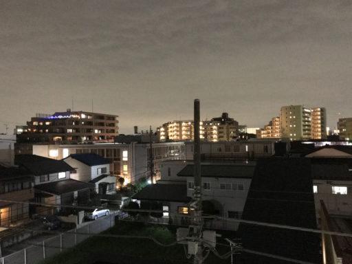 所沢支店の屋上からの夜景