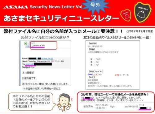 セキュリティニュースレター号外:添付ファイル名に「自分の名前」が入ったメールに要注意!